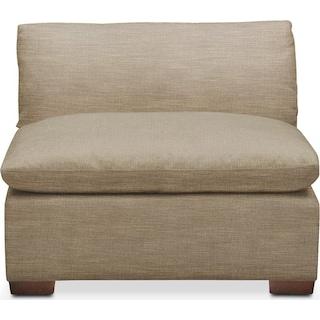 Plush Armless Chair- in Milford II Toast