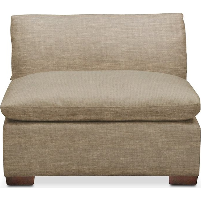 Living Room Furniture - Plush Armless Chair- in Milford II Toast