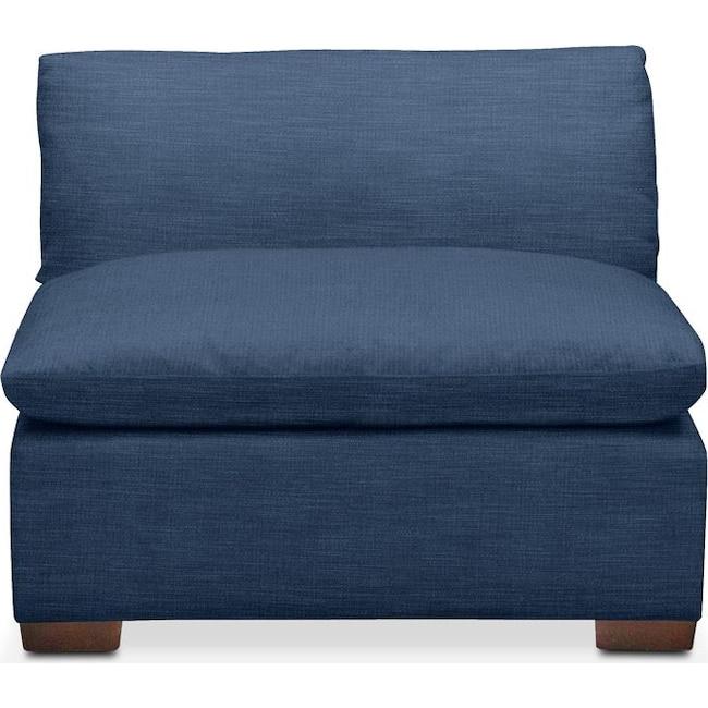 Living Room Furniture - Plush Armless Chair- in Hugo Indigo