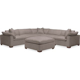 Plush 6 Pc. Sectional- in Oakley III Granite
