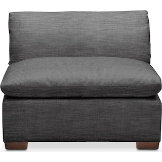 Plush Armless Chair- in Curious Charcoal