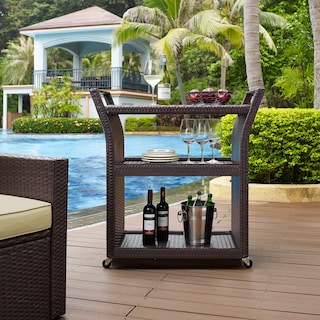 Aldo Outdoor Bar Cart - Brown