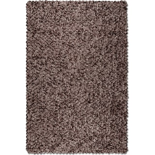 Plush Shimmer Area Rug - Chocolate