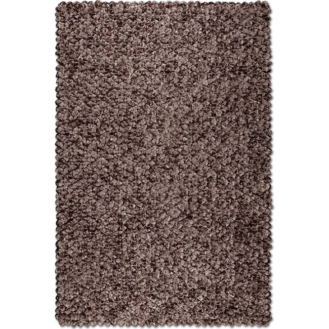 Rugs - Plush Shimmer Area Rug - Chocolate