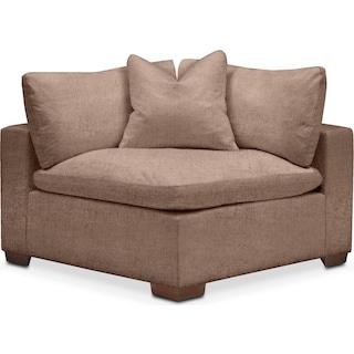 Plush Corner Chair- in Abington TW Antler