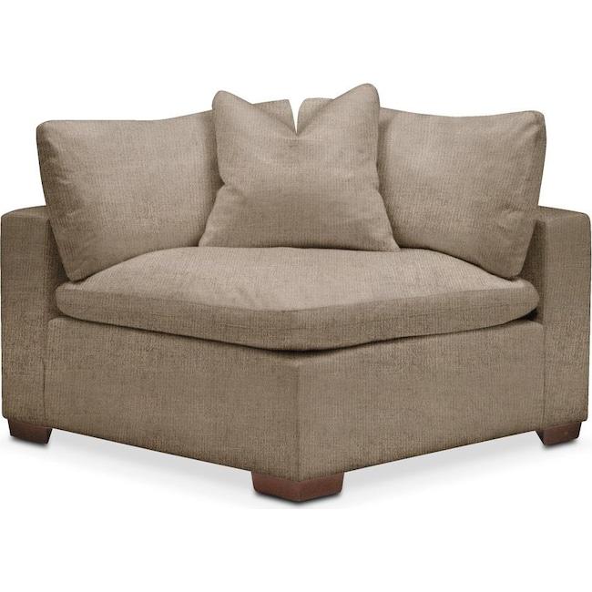 Living Room Furniture - Plush Corner Chair- in Statley L Mondo