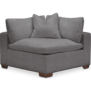 Plush Corner Chair- in Hugo Graphite