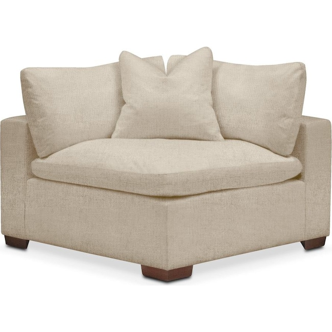 Living Room Furniture - Plush Corner Chair- in Depalma Taupe