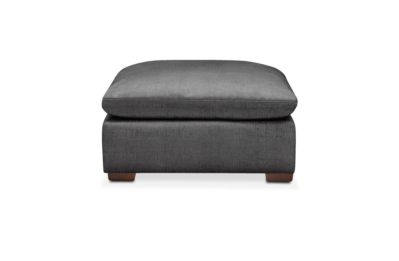 Living Room Furniture - Plush Ottoman