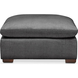 Plush Ottoman- in Curious Charcoal