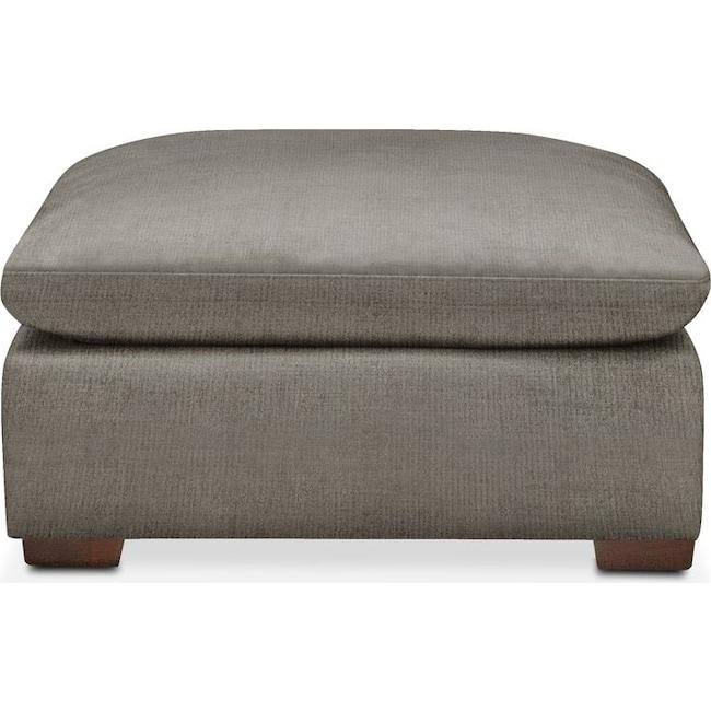 Living Room Furniture - Plush Ottoman- in Victory Smoke