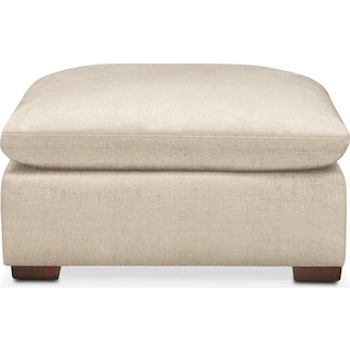 Plush Ottoman- in Victory Ivory