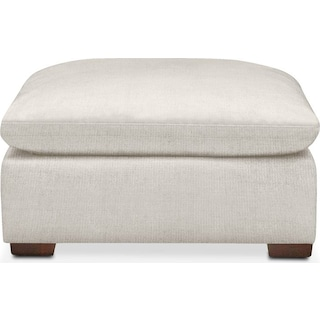 Plush Ottoman- in Anders Ivory