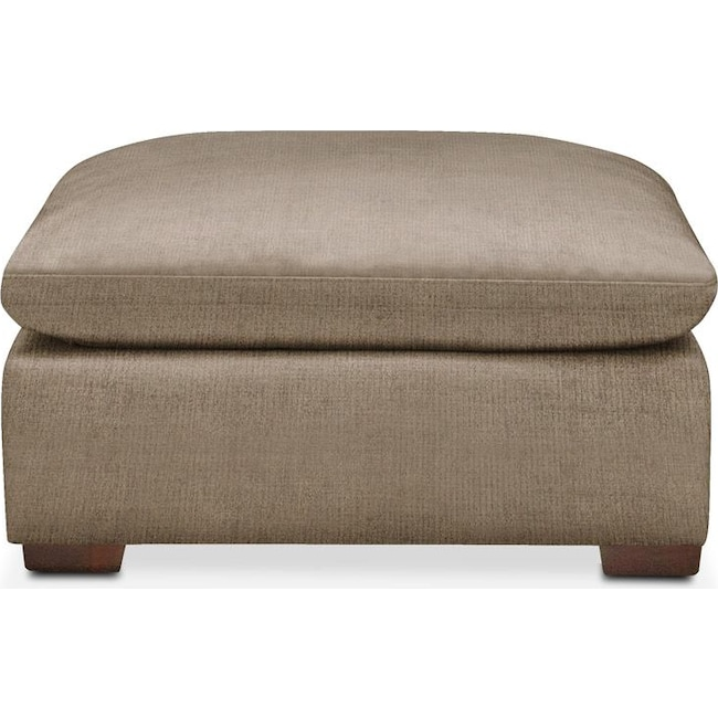 Living Room Furniture - Plush Ottoman- in Statley L Mondo