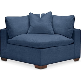Plush Corner Chair- in Hugo Indigo