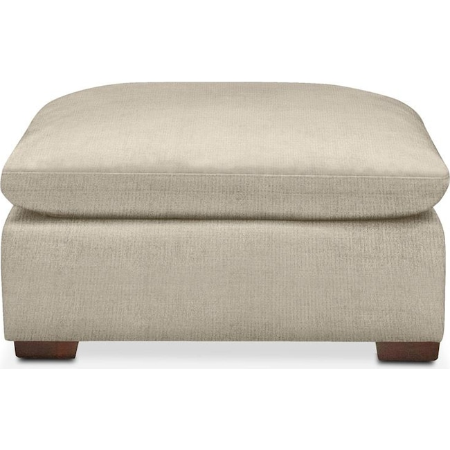 Living Room Furniture - Plush Ottoman- in Abington TW Barley