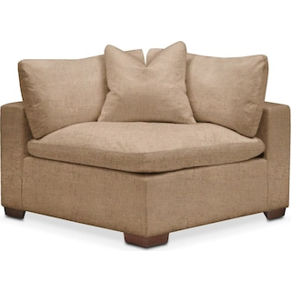 Plush Corner Chair- in Hugo Camel