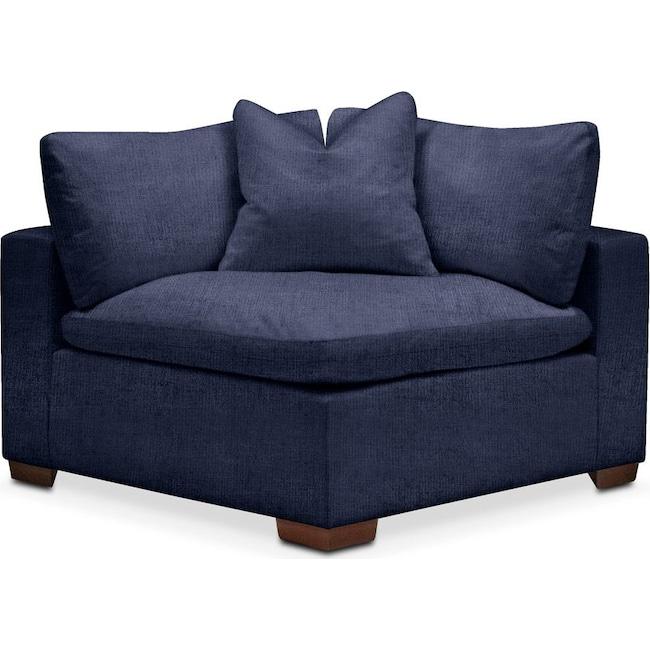 Living Room Furniture - Plush Corner Chair- in Oakley III Ink