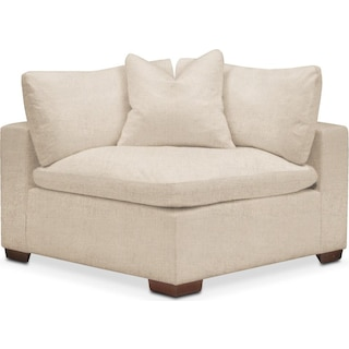 Plush Corner Chair- in Victory Ivory