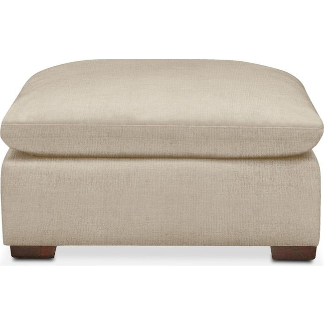 Living Room Furniture - Plush Ottoman- in Depalma Taupe