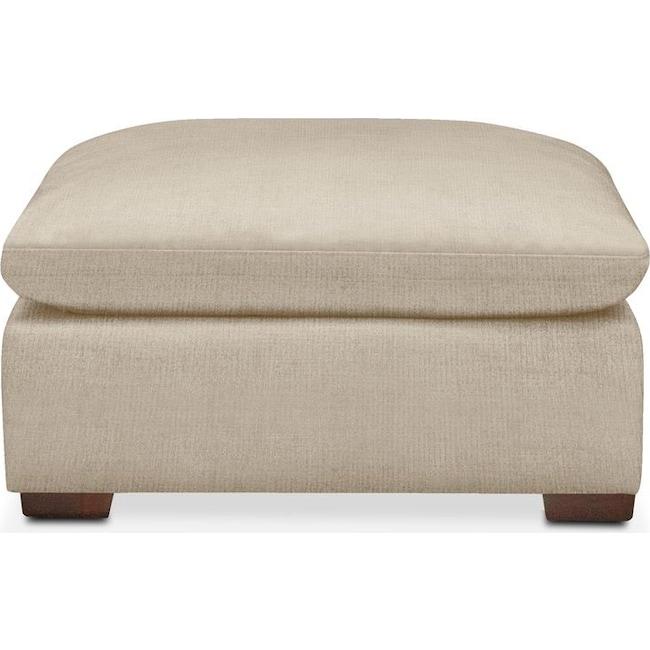 Living Room Furniture - Plush Ottoman- in Depalma Taupe