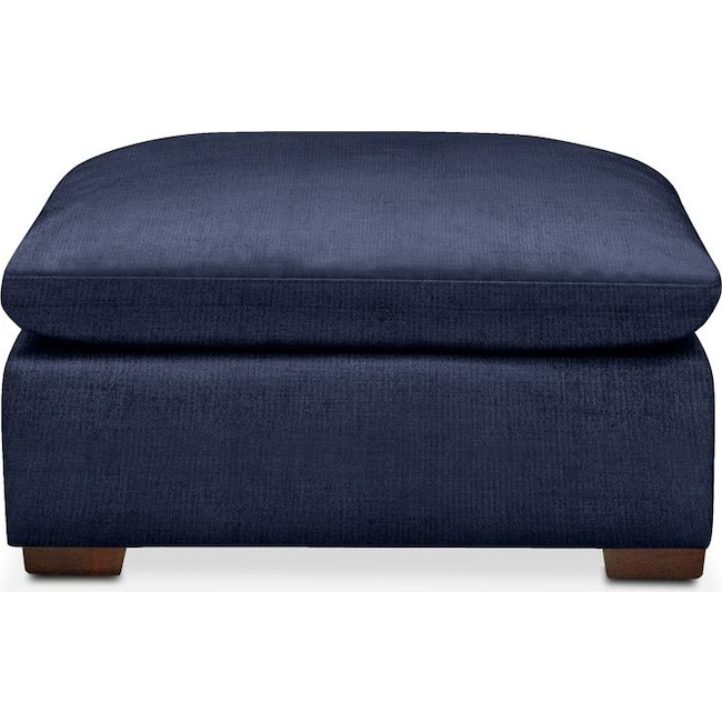 Living Room Furniture - Plush Ottoman- in Oakley III Ink