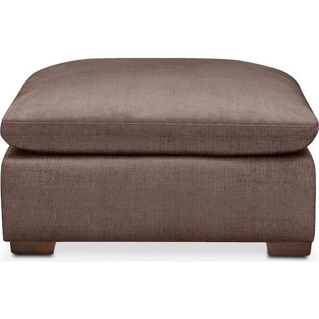 Living Room Furniture - Plush Ottoman- in Oakley III Java