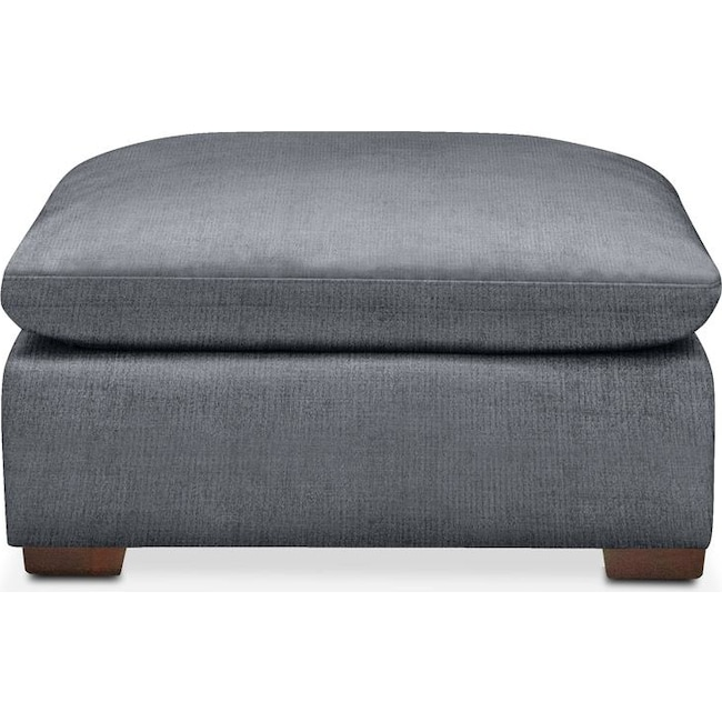 Living Room Furniture - Plush Ottoman- in Dudley Indigo