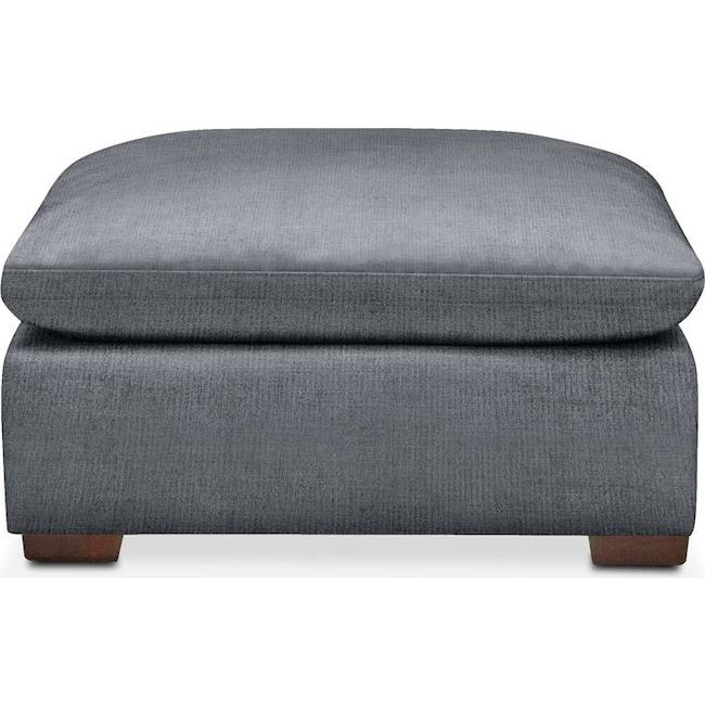 Living Room Furniture - Plush Ottoman- in Dudley Indigo