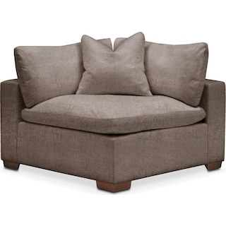 Plush Corner Chair- in Hugo Mocha