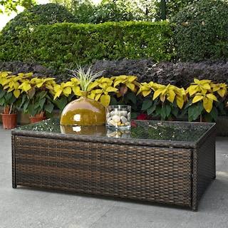 Aldo Outdoor Cocktail Table - Brown