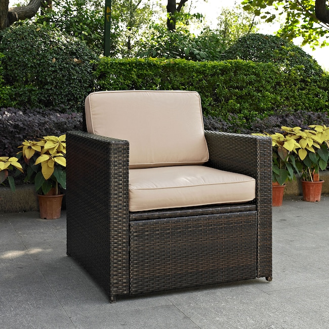 Aldo Outdoor Chair - Brown - Aldo Outdoor Chair - Brown Value City Furniture And Mattresses