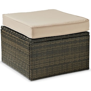 Aldo Outdoor Ottoman - Brown