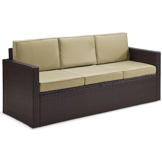 Aldo Outdoor Sofa - Brown