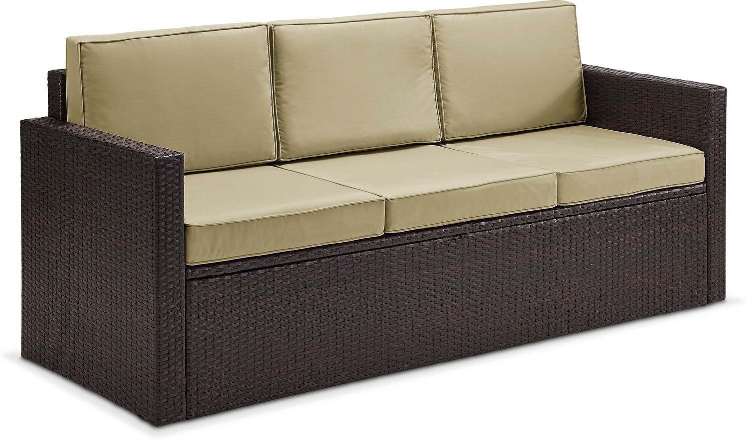 Aldo Outdoor Sofa   Brown