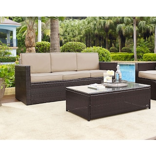 The Aldo Outdoor Living Room Collection - Brown