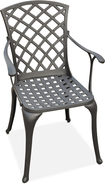Outdoor Furniture - Hana Outdoor High-Back Arm Chair