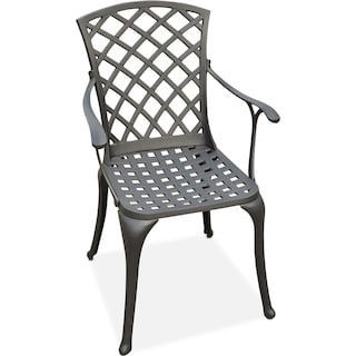 Hana Outdoor High-Back Arm Chair - Black