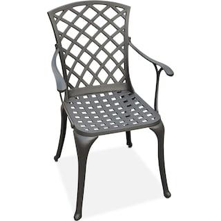 Hana Outdoor High-Back Arm Chair - Black