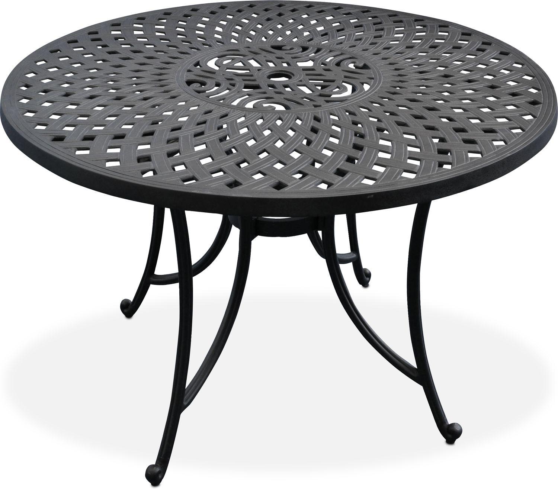 "Outdoor Furniture - Hana 42"" Outdoor Table - Black"