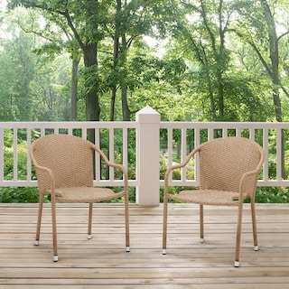 Aldo Set of 2 Stackable Outdoor Arm Chairs