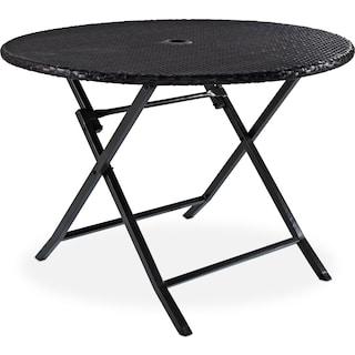 Aldo Folding Outdoor Table - Brown