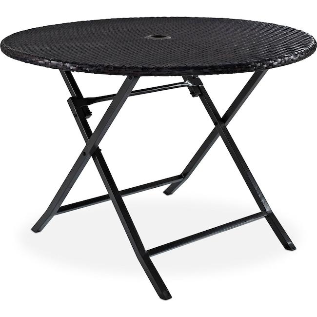 Outdoor Furniture - Aldo Folding Outdoor Table - Brown