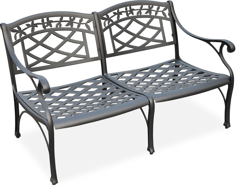 Outdoor Furniture - Hana Outdoor Loveseat - Black