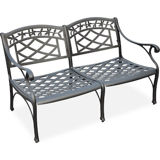 Hana Outdoor Loveseat - Black