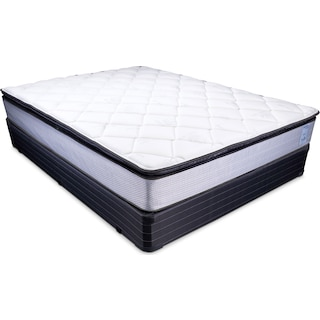 Oasis Plush Full Mattress and Foundation Set
