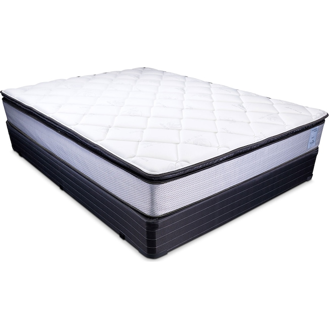 Mattresses and Bedding - Oasis Plush Queen Mattress and Foundation Set