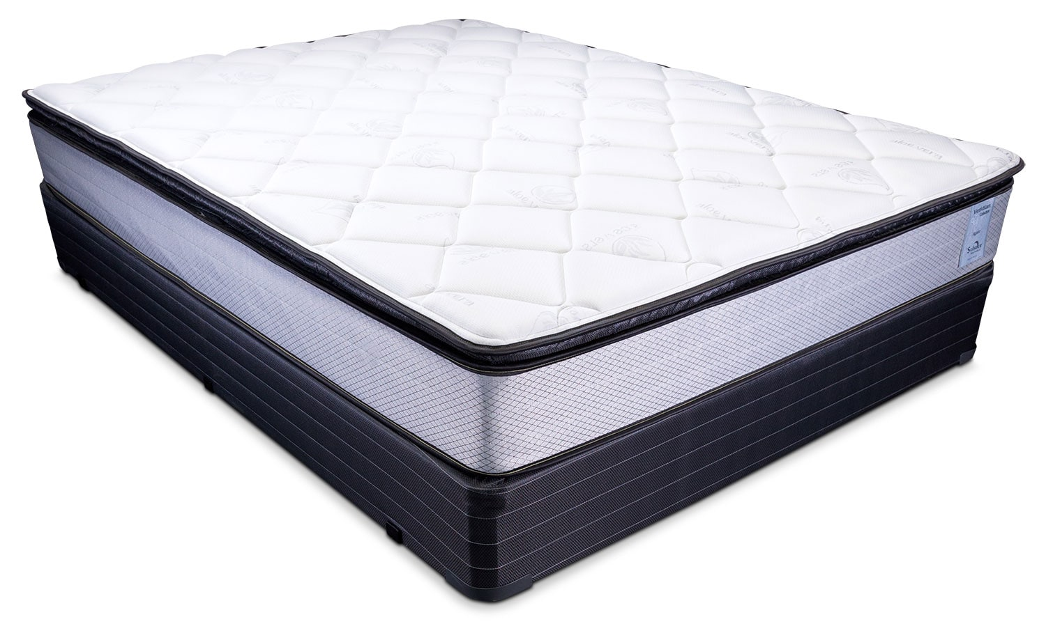 Good Oasis Plush Queen Mattress And Foundation Set