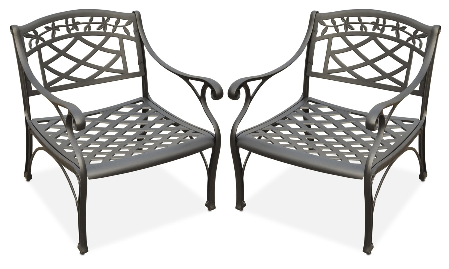 Outdoor Furniture - Hana Set of 2 Outdoor Chairs - Black