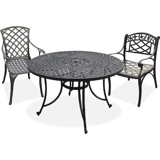 The Hana Outdoor Dining Collection - Black